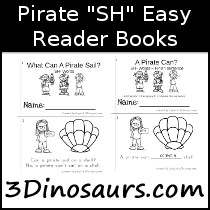 Pirate SH Books Easy Reader Book - 3Dinosaurs.com