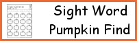 Sight Word Pumpkin Find