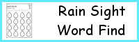 Sight Word Rain Find