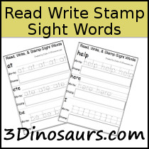 Sight Word  Read, Write, & Stamp