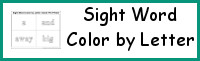 Sight Word Color by Letter