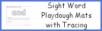 Sight Word Playdough Mat with Tracing & Writing