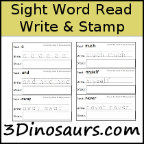 Sight Word Read Write Stamp