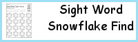 Sight Word Snowflake Find