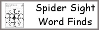 Sight Word Spider Find