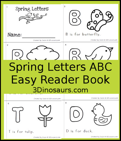 Spring Theme ABC Easy Reader Book - 3Dinosaurs.com