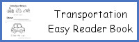 Transportation Easy Reader Book