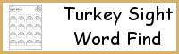 Turkey Sight Word Find