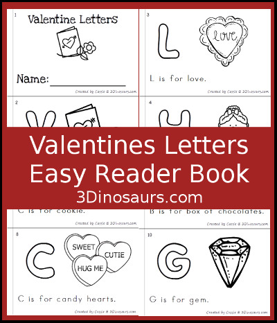 Valentines ABC Easy Reader Book - 3Dinosaurs.com