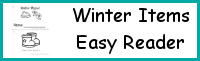Winter Items Easy Reader