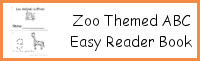 Zoo Themed ABC Easy Reader Book