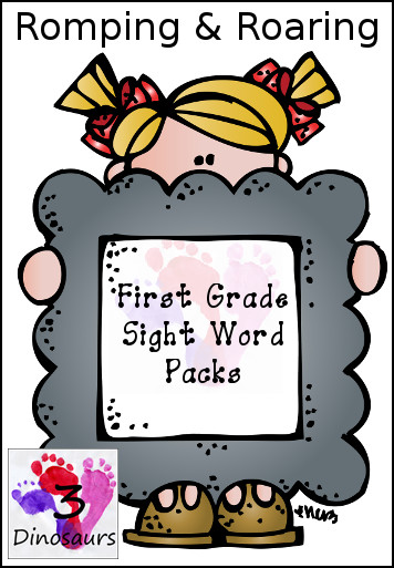 All New Romping & Roaring First Grade Sight Word Packs - 3Dinosaurs.com