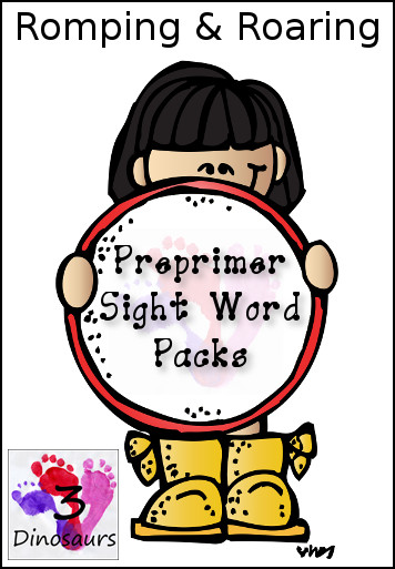 New Romping & Roaring Preprimer Sight Words Packs