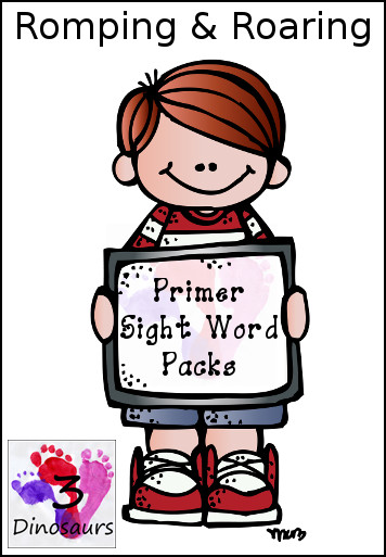 New Romping & Roaring Primer Sight Words Packs