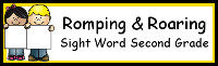 Romping & Roaring Second Grade Sight Words Packs