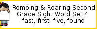 Romping & Roaring Second Grade Set 4: Fast, First, Five, Found Packs