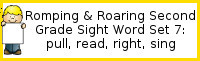 Romping & Roaring Second Grade Set 7: Pull, Read, Right, Sing Packs