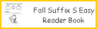 Fall Themed Suffix S Easy Reader Book