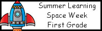 Summer Learning: First Grade Space Week
