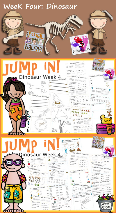 Jump In To Summer: Dinosaur Week 4