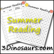 Summer Reading Charts