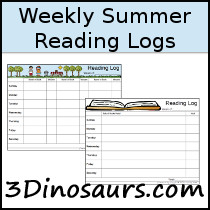 Weekly Summer Reading Chart