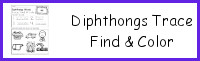 Diphthongs Trace Find & Color