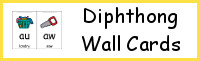 Diphthong Wall Cards