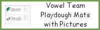Vowel Team Playdough Mats with Pictures