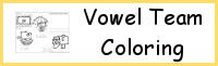 Vowel Team Coloring Pages