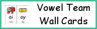Vowel Team Wall Cards