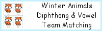Winter Fox Vowel Team & Diphthong Matching