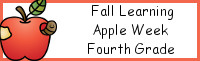 Fall Learning: Fourth Grade Apple Week