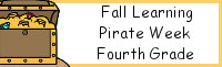Fall Learning: Fourth Grade Pirate Week