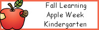 Fall Learning: Kindergarten Apple Week