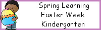 Spring Learning: Kindergarten Easter Week
