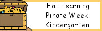 Fall Learning: Kindergarten Pirate Week