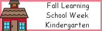 Fall Learning: Kindergarten School Week
