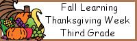 Fall Learning: Third Grade Thanksgiving Week - No-Prep