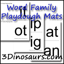 Word Family Playdough Mats