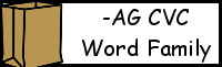 CVC Word Family Printables: -AG