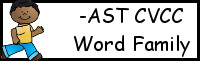 CVCC Word Family Printables: -AST