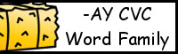 CVC Word Family Printables: -AY