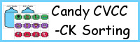 Candy CVCC -CK Word Sorting