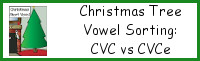 Christmas Tree Vowel Sorting: CVC vs CVCe