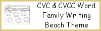 CVC & CVCC Word Family Beach Writing