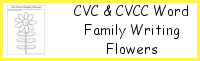 CVC & CVCC Word Family Writing Flowers
