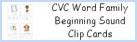 CVC Word Family Beginning Sound Clip Cards