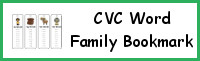 CVC Word Family Bookmark