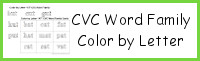 CVC Word Family Color by Letter